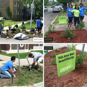 Pangea Cares Neighborhood Beautification&nbsp;<br/><br/><span style='font-size: .7em; color: #868686; font-weight: bold;'>July 2013 | Chicago</span>