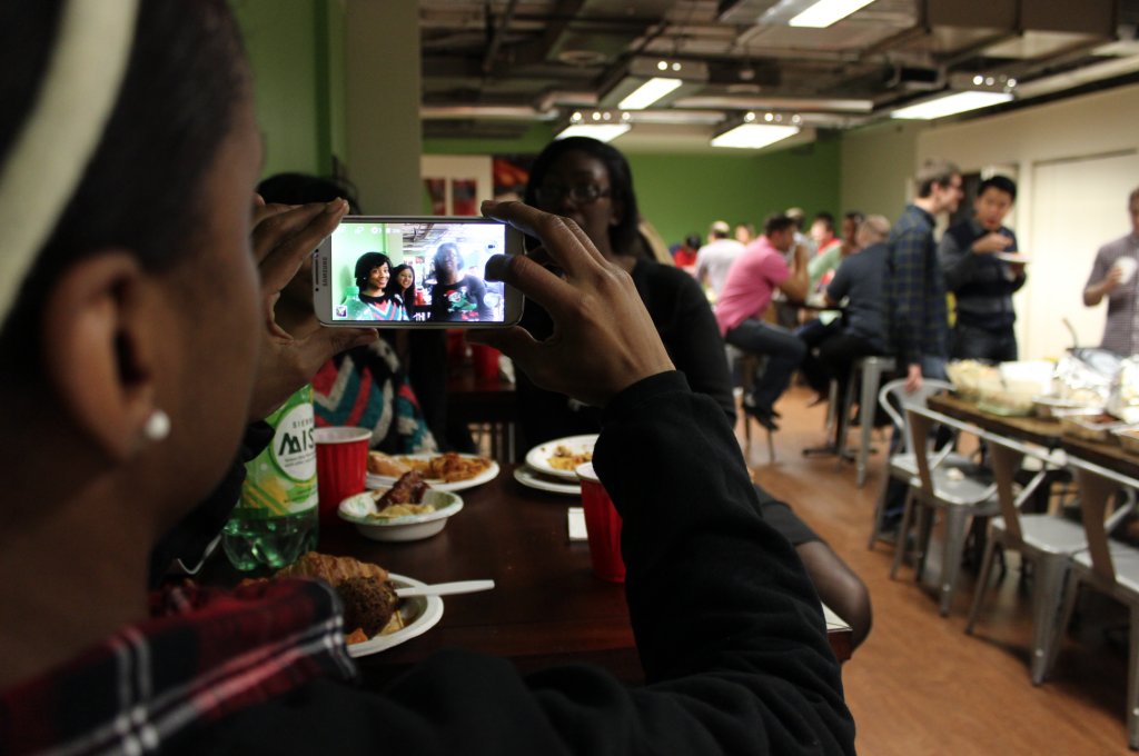 We love to eat—what better way to celebrate the holidays than to get a taste of everything at our annual potluck?
