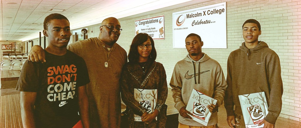 2013 interns visit Malcolm X College & tour campus with admission specialist&nbsp;<br/><br/><span style='font-size: .7em; color: #868686; font-weight: bold;'>June 2014 | Malcolm X College</span>