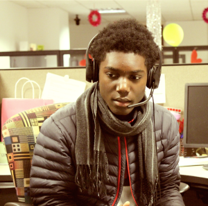 Armand taking a call from our residents&nbsp;<br/><br/><span style='font-size: .7em; color: #868686; font-weight: bold;'>December 2014 | Contact Center</span>