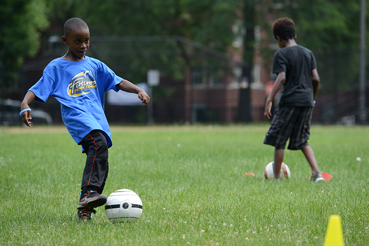 Future soccer stars&nbsp;<br/><br/><span style='font-size: .7em; color: #868686; font-weight: bold;'>August 2016 | Summer Fitness Fest</span>