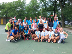 The volunteer group&nbsp;<br/><br/><span style='font-size: .7em; color: #868686; font-weight: bold;'>August 2016 | Summer Fitness Fest</span>